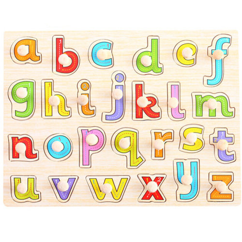 Wooden Kids Playschool Preschool Puzzled Educational Toy Puzzle,a-z