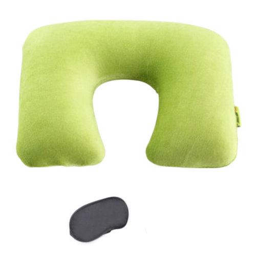 Detachable Inflatable Cotton Plane Journey Travel Pillow