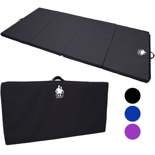 Gym Master 8.2ft Folding Exercise Gymnastic Class Floor Landing/Crash Tumble Mat