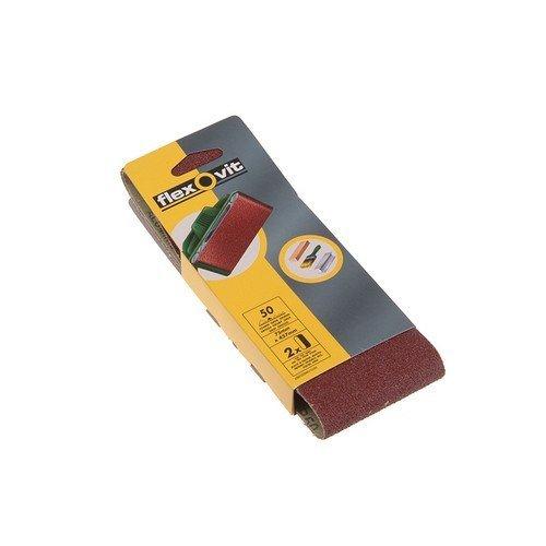 Flexovit 63642526464 Cloth Sanding Belts 75mm x 457mm 120g Fine Pack of 2