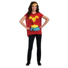 Extra Large Ladies Wonderwoman T-shirt With Cape