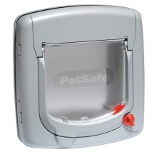 PetSafe Manual 4-Way Cat Flap Deluxe 340 Grey 5004