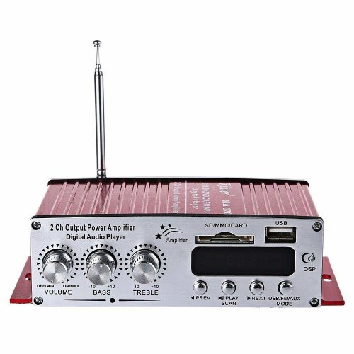 MA-120 12V 2 Channel Mini Digital Audio Player USB/SD/MP3/FM Amplifier With Remote Control