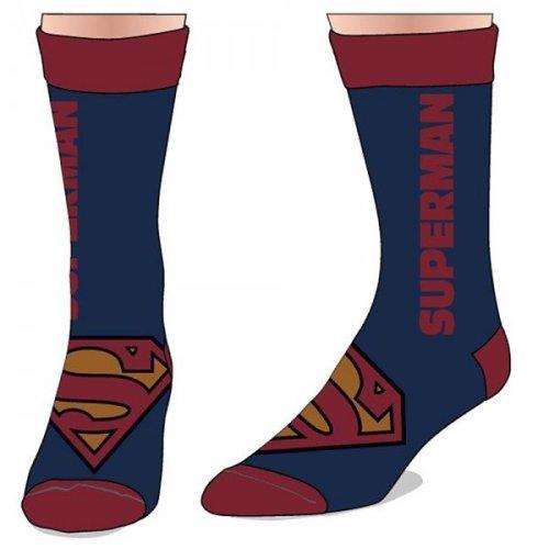 Superman Text Logo DC Comics Licensed Crew Socks