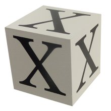 Wooden Block - Letter X