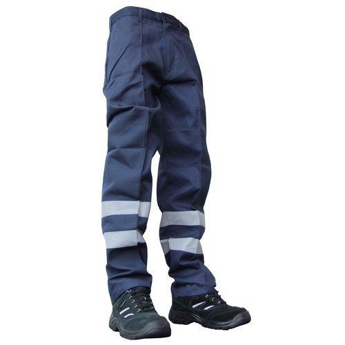 "Click PCNT27N30T Polycotton Nylon Patch Work Trousers Navy Blue 30"" Long"