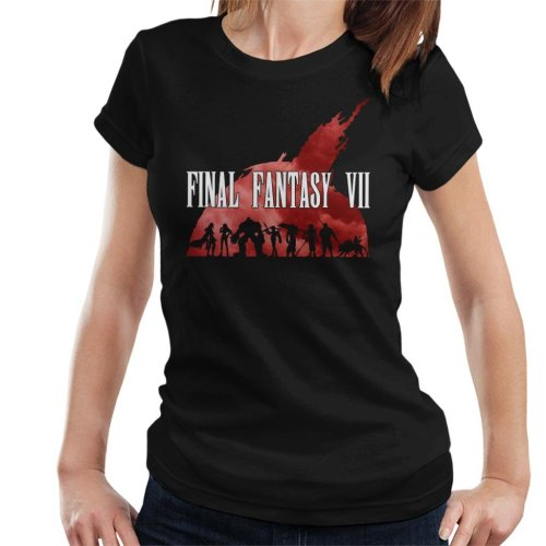 Final Fantasy VII Heros Silhouette Women's T-Shirt