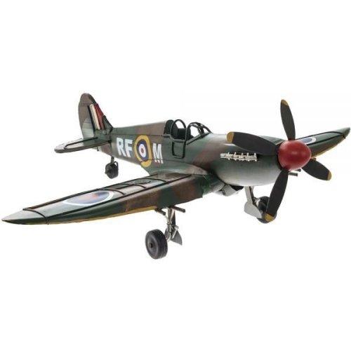 Vintage Spitfire Battle Plane Model 46Cm Metal Military Colours