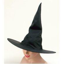 d7208efddcad2 Adult s Black Nylon Witches Hat - hat witch black fancy dress plain  halloween nylon accessory adult witches WITCH HAT BLACK PLAIN NYLON ADULT  LADIES