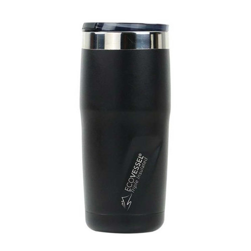 Ecovessel Metro 473ml Hot Cold Drinks Mug Tumbler Black Shadow