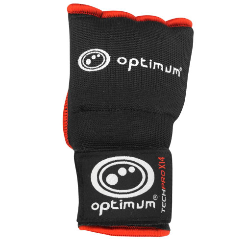 Optimum Techpro X14 Boxing Inner Gloves Black/Red