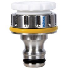 Pro Metal Threaded Tap Connector -  connector metal hozelock pro threaded taps 34 inch 2041