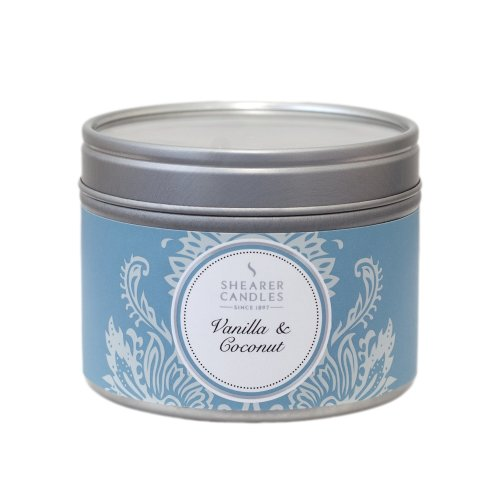 Shearer Candles Small Vanilla & Coconut Scented Tin Candle