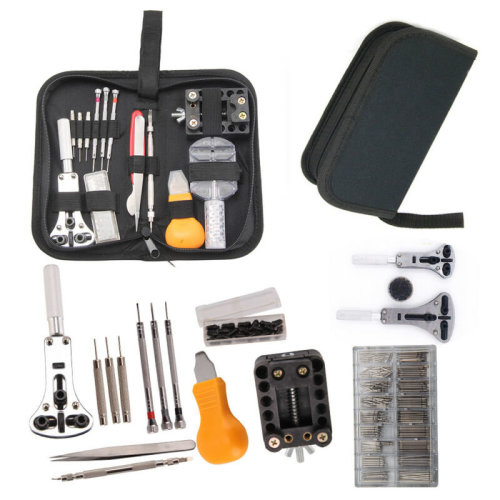 504 Pcs Watchmaker Watch Repair Tool Kit Remover Spring Pin Bar Back Case Opener
