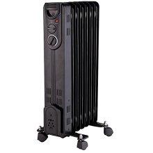 Pro-Elec Black Freestanding Oil-Filled Radiator 1.5kW