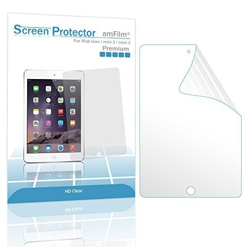 amFilm iPad Mini Screen Protector HD Clear for iPad Mini iPad Mini 2 and iPad Mini 3 Retina Display 2 Pack