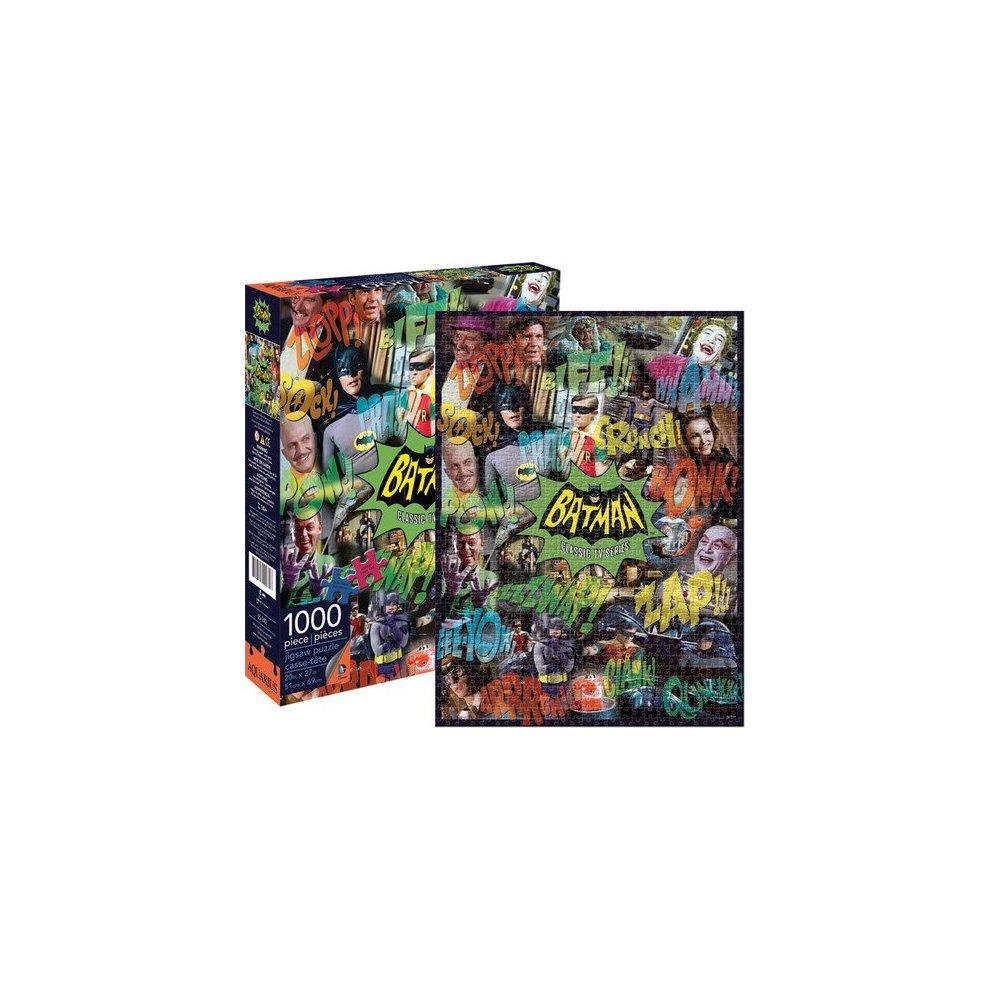 AQUARIUS JIGSAW PUZZLE BATMAN CLASSIC TV SERIES GOTHAM CITY 1000 PCS #65242