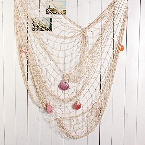 Decorative FISHING NET with SEASHELL Detail - 100cm x 200cm