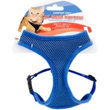 Comfort Soft Adjustable Mesh Cat Harness-Blue