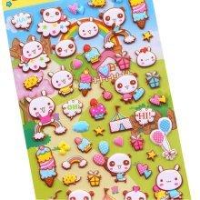 5 Sheets Funny Cartoon Stickers Children Decorative Toys[Rabbit]