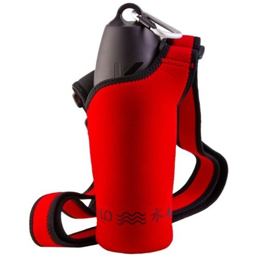H2O4K9 Neoprene Water Bottle Carrier, Racecar Red