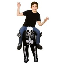 Kids Carry Me Piggy Back Skeleton Costume | Halloween