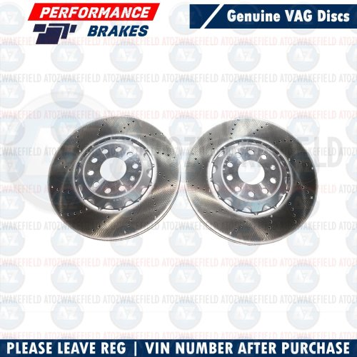 FOR AUDI S3 VW GOLF R MK7 GTI CLUBSPORT FRONT PERFORMANCE BRAKE DISCS PAIR 340mm