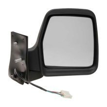 Peugeot Expert Van 1995-2006 Electric Wing Door Mirror Black Cover Drivers Side