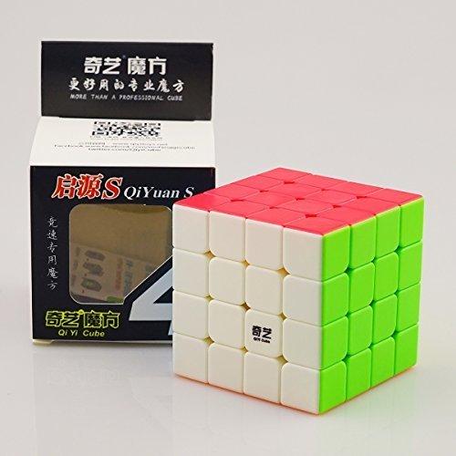 CuberSpeed QiYi Storm V2 ¼QIYuan S ¼‰ 4x4 Magic cube stickerless Mo Fang Ge Qiyuan S 4x4 color Speed cube