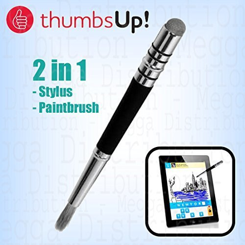 ThumbsUp! 2 in 1 Stylus and Capacitive Paintbrush For Touch Screen Devices - For Tablets, Smartphones, Monitors & Laptops