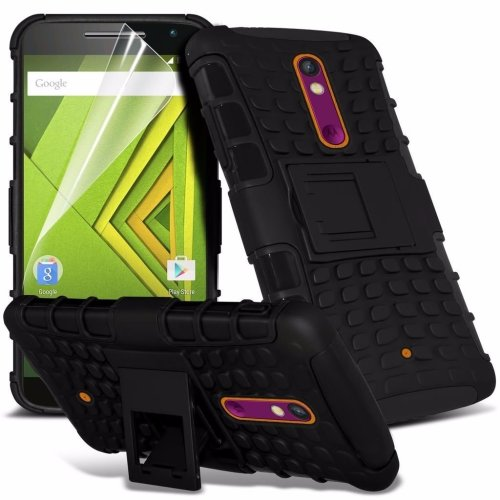 Itronixs - Microsoft Lumia 650 Rugged Heavy Duty Armour Shock Proof Hard Stand Case Cover with Lcd Screen Protector