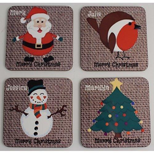 Personalised Christmas Gift Coaster