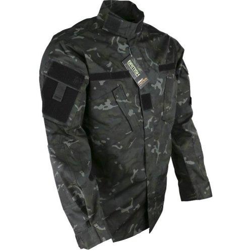 "Kombat Assault Shirt ACU Style BTP Black 38-40"" Small"