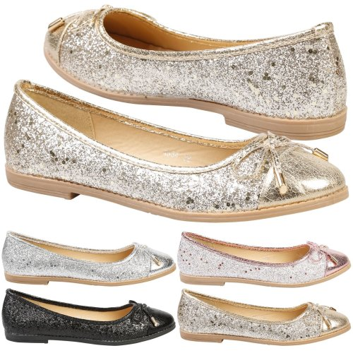 Tatiana Womens Flat Slip On Ballet Shoes