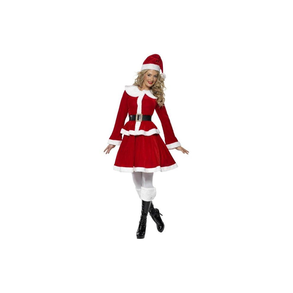 Christmas Fancy Dress.Women S Miss Santa Costume Miss Santa Costume Christmas Fancy Dress Womens Ladies Muff Xmas Outfit Smiffys