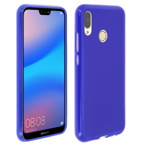 new concept 42a3a 88353 Silicone case, Glossy & matte back cover for Huawei P20 Lite – Blue