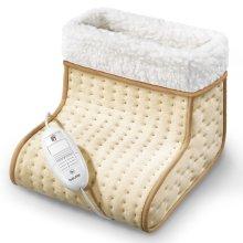 Beurer FW20 Electronic Cosy Foot Warmer, 3 Heat Settings, Washable Fleece Lining