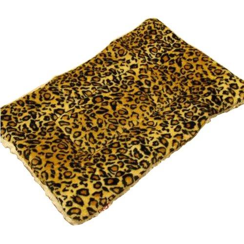 [Leopard] Soft Pet Beds Pet Mat Pet Crate Pads Cozy Beds For Dog/Cat