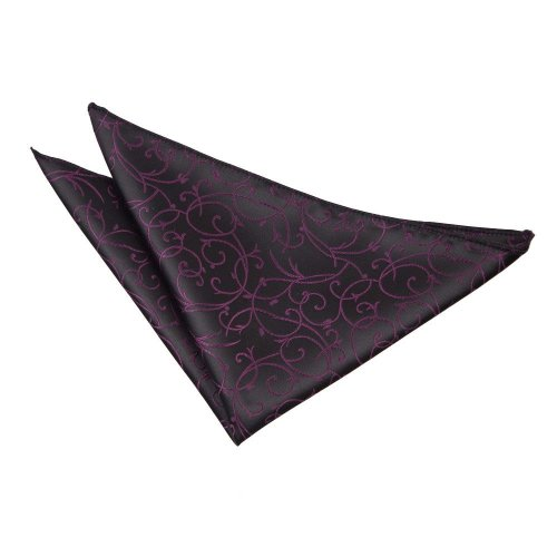 Black & Purple Swirl  Pocket Square