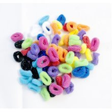 ICB - 80 Pack Mixed Colour Pony Tail Elastic Hair Bands