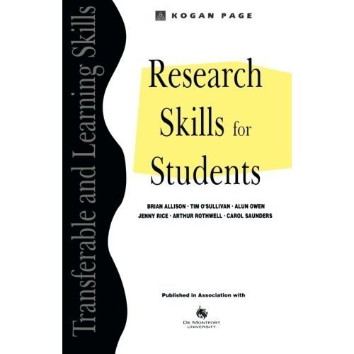 Research Skills for Students (Transferable & Learning Skills)