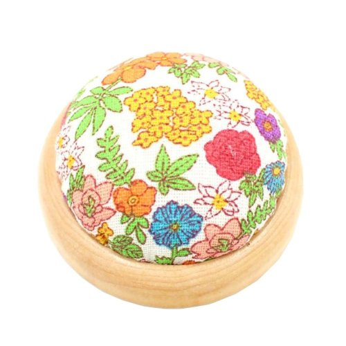 Set of 2 Pin Cushions for Sewing with Wood Base - 07
