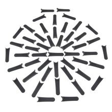 Flymo Lawnmower Plastic Cutting Blades (Pack Of 50) Equivalent to FLY014
