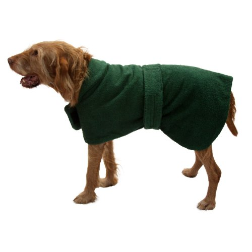Dogs & Co Toweling Dog Coat, 22-inch, Green