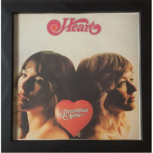 Heart Dreamboat Annie Lp Cover Framed for Wall Upcycled Original Sleeve No Vinyl