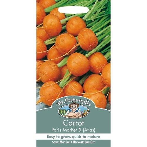 Mr Fothergills - Pictorial Packet - Vegetable - Carrot - Paris Market 5 Atlas - 2000 Seeds