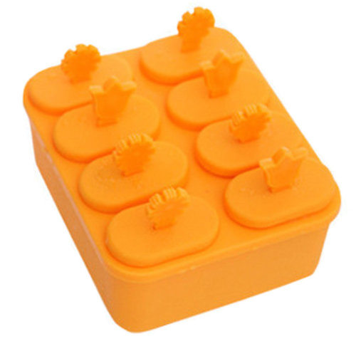 Practical Ice Cube Tray Ice Chocolate Jelly Tray Mold Party Accessories, Orange