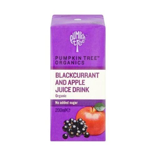 Pumpkin Tree Organic Apple & Blackcurrant Juice | 200ml x 12