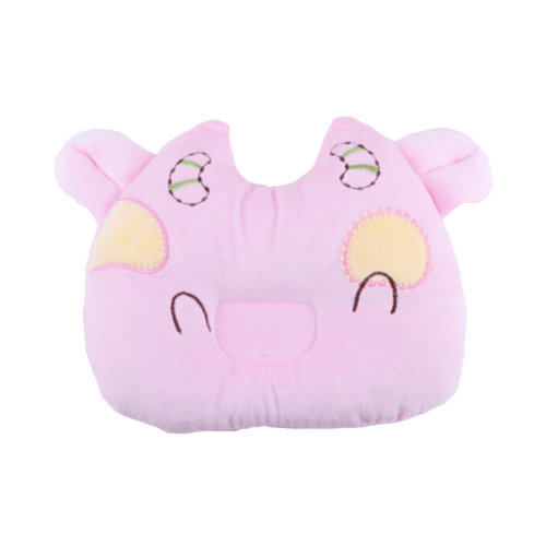 Cute Anti-roll Pillow Prevent Flat Head For 0-1 Years Cute Cow Pink