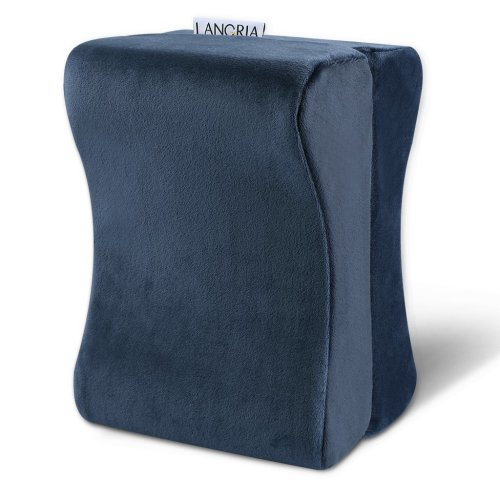 LANGRIA Knee Support Pillow Memory Foam Leg Rest Pillow,for Side Sleeper, Knee Pillow for Comfortable Sleeping, Pressure Relief Cushion,with...